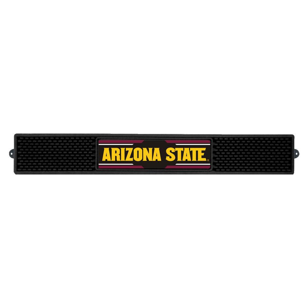 NCAA- 3.25 in. x 24 in. Black Arizona State University Drink Mat