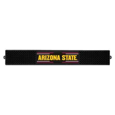 NCAA- 3.25 in. x 24 in. Black Arizona State University Drink Mat
