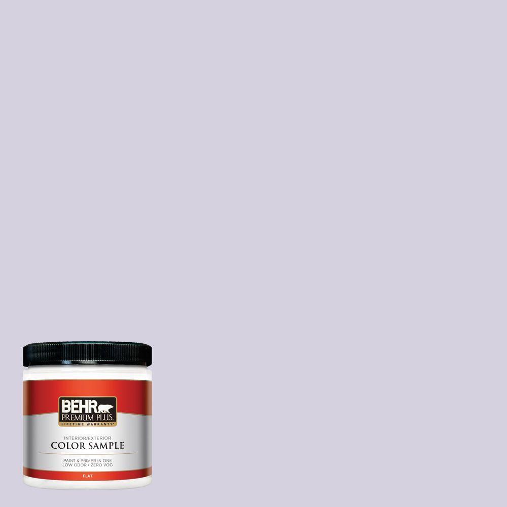 BEHR Premium Plus 8 oz. #650E-2 Lovely Lavender Interior/Exterior Paint Sample
