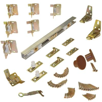 170A 4-Panel Bifold Hardware Set, 60 in. Track, 15 in. Panels (40 lbs. per Panel)
