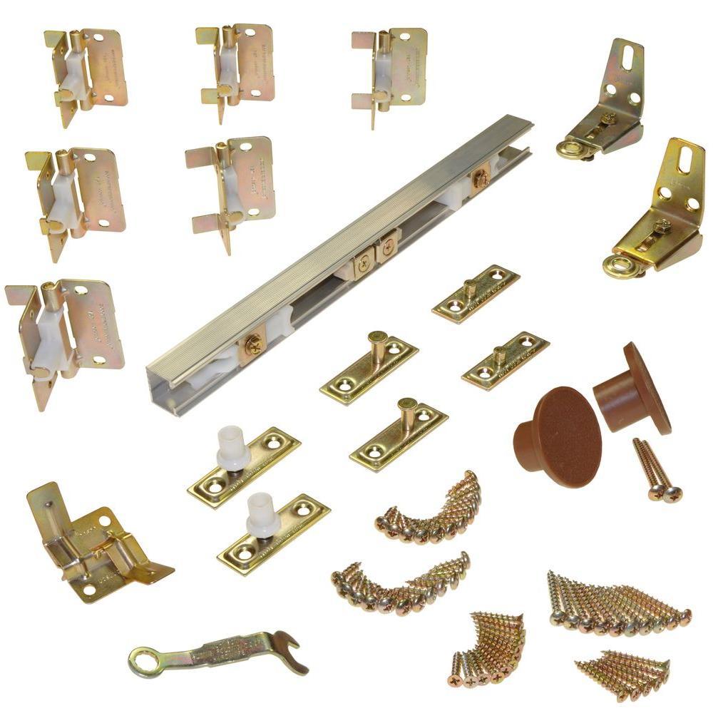 170A 4-Panel Bi-Fold Hardware Set, 96 in. Track, 24 in. Panels (40 lbs. per Panel)