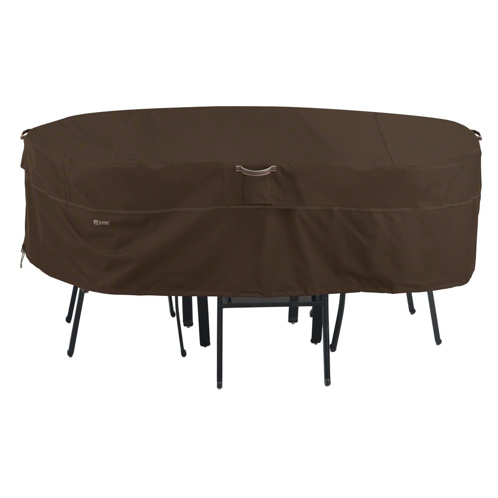 Clic Accessories Madrona X Large Rainproof Rectangular Oval Patio Table And Chair Set Cover
