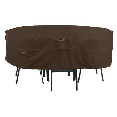 Madrona X-Large Rainproof Rectangular/Oval Patio Table and Chair Set Cover - Dining Group - Classic Accessories - Waterproof - Patio Furniture