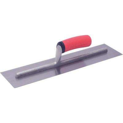 16 in. x 4 in. Finishing Trowel with Soft Grip Handle