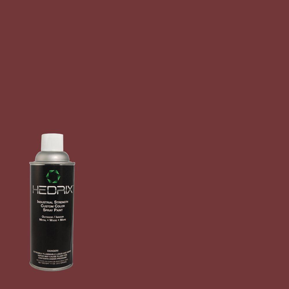 Hedrix 11 oz. Match of PMD-43 Velvety Merlot Semi-Gloss Custom Spray Paint (2-Pack)