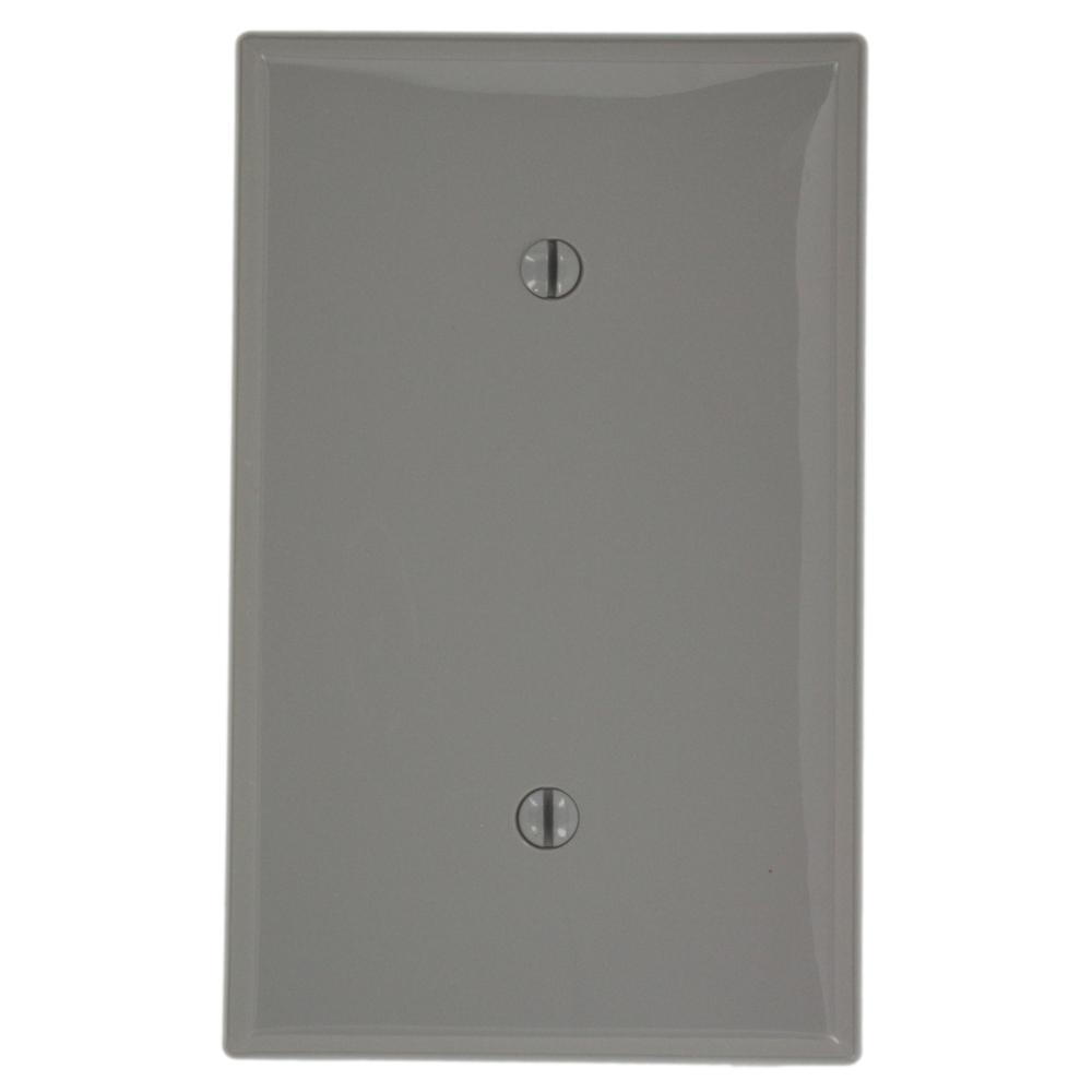 1-Gang No Device Blank Wallplate, Standard Size, Thermoplastic Nylon, Strap