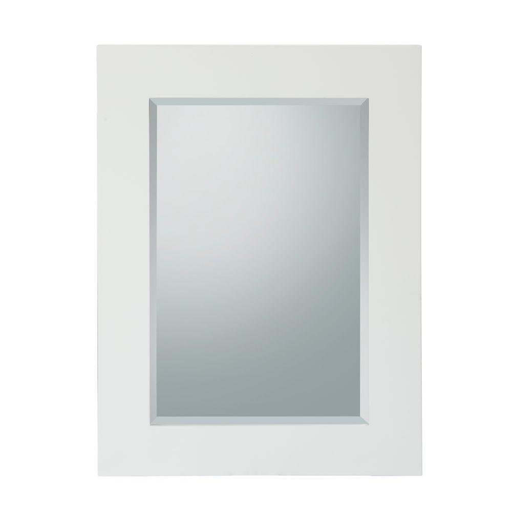 Elegant Home Fashions Chatham 26 in. L x 19 in. W Wall Mirror in White