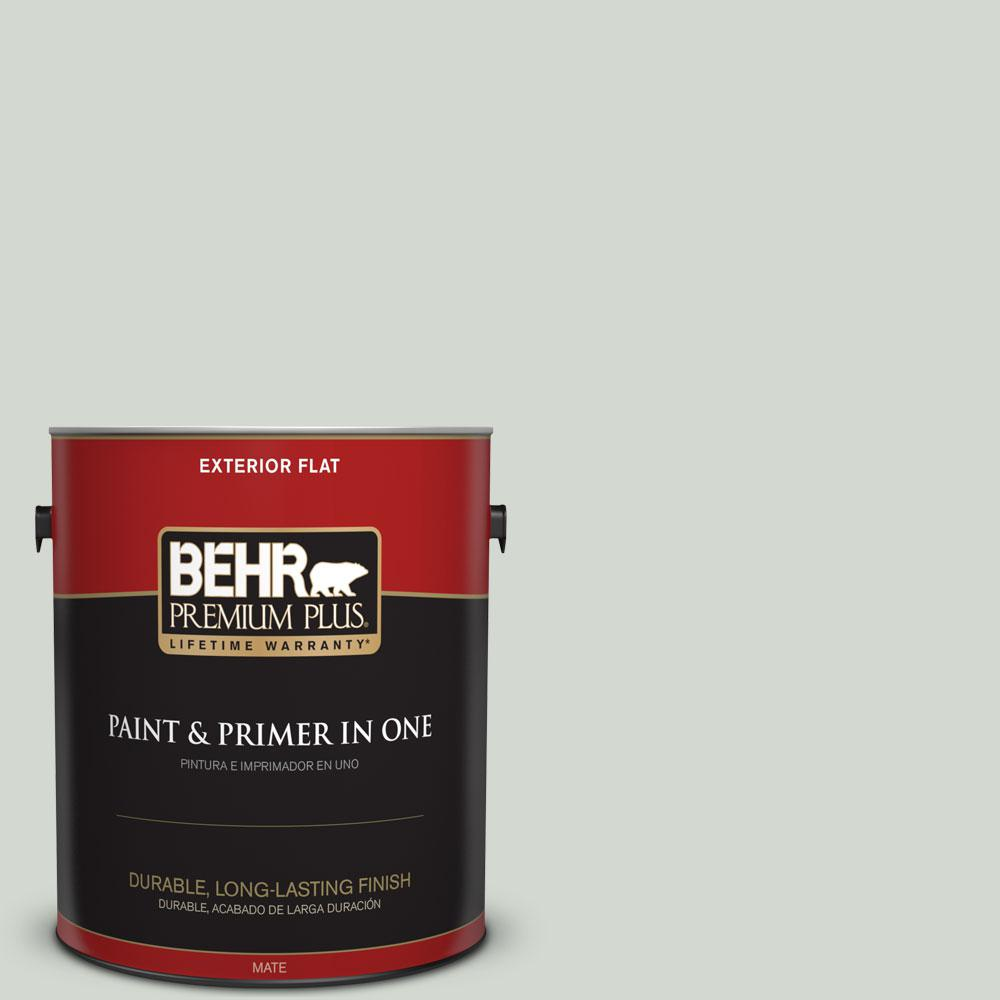 1-gal. #N410-2 Brook Green Flat Exterior Paint