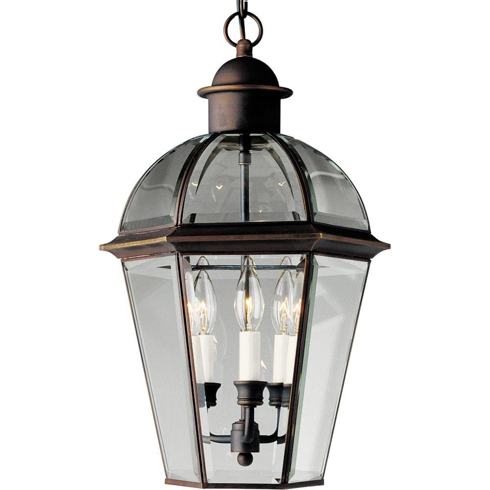 Progress Lighting Danbury Collection Antique Bronze 3-light Hanging Lantern-DISCONTINUED