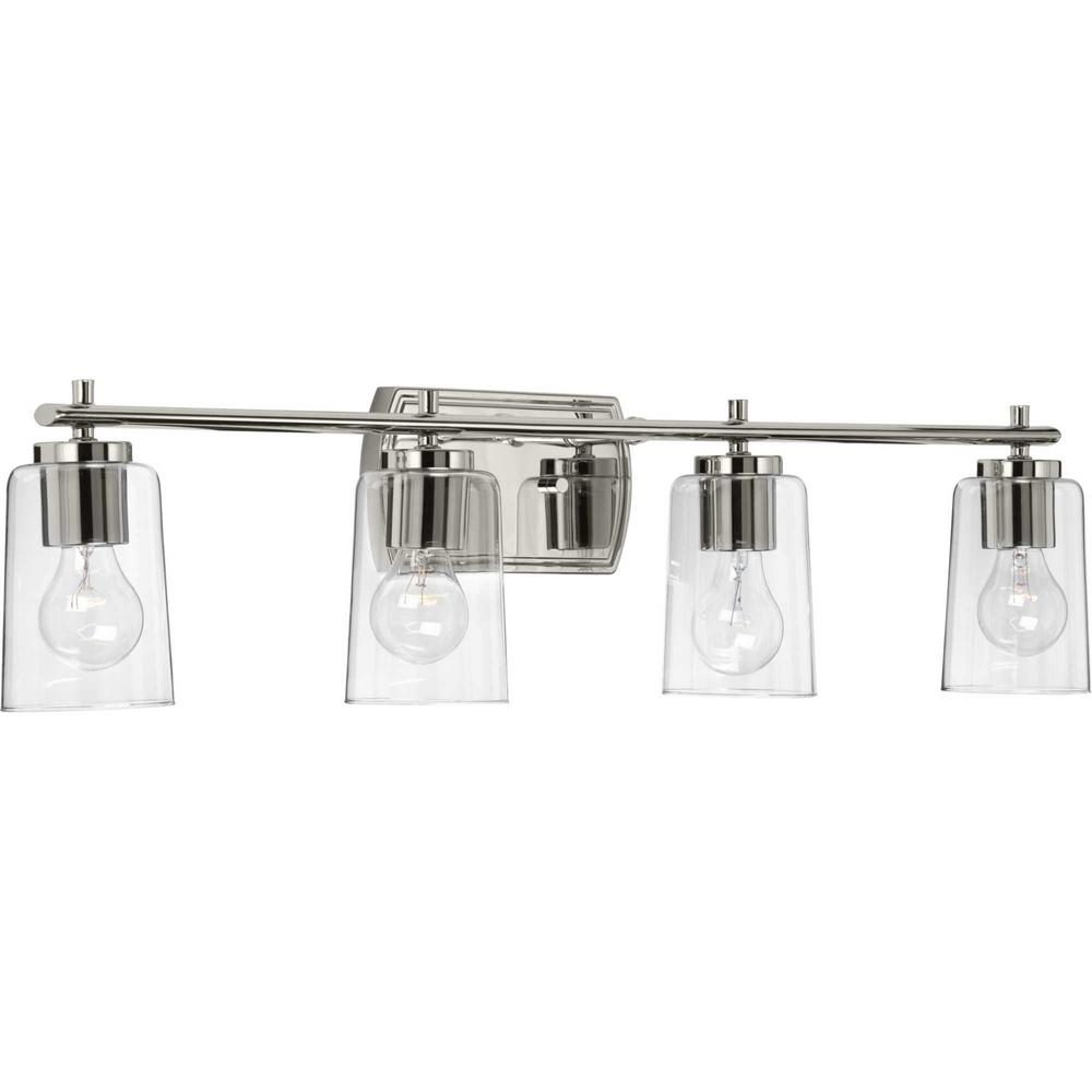 Adley 4-Light Polished Nickel Bath Light