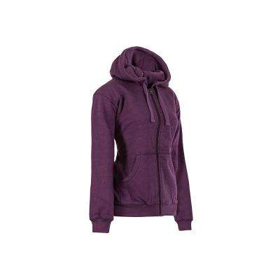 Women's Large Plum Heather Cotton and Polyester Fleece Lined Sweatshirt