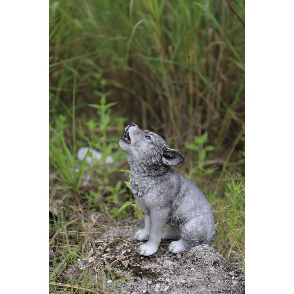 Hi Line Gift Wolf Pup Howling Exclusive 87713 The Home