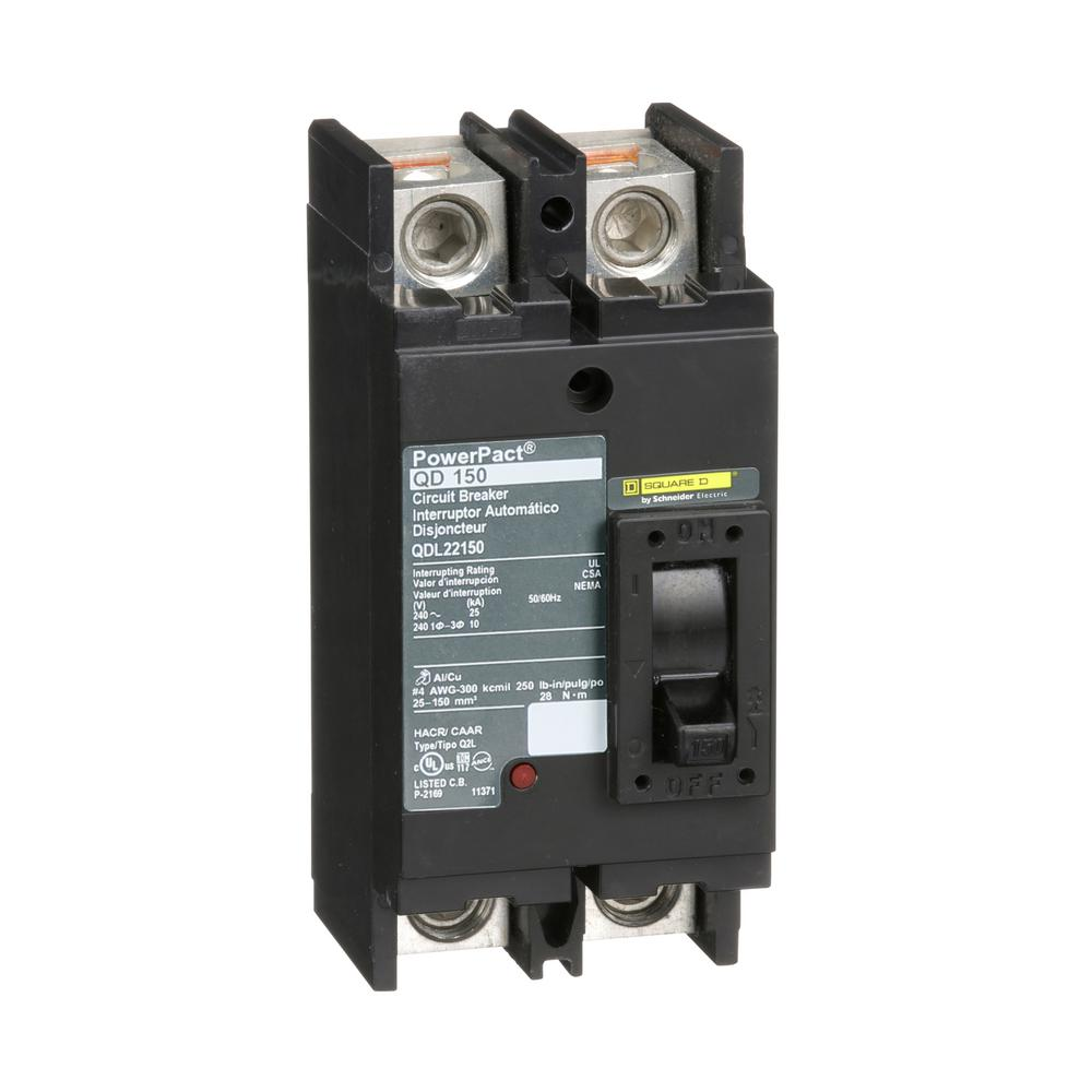 Square D PowerPact 150 Amp Q-Frame Molded Case 2-Pole Circuit Breaker