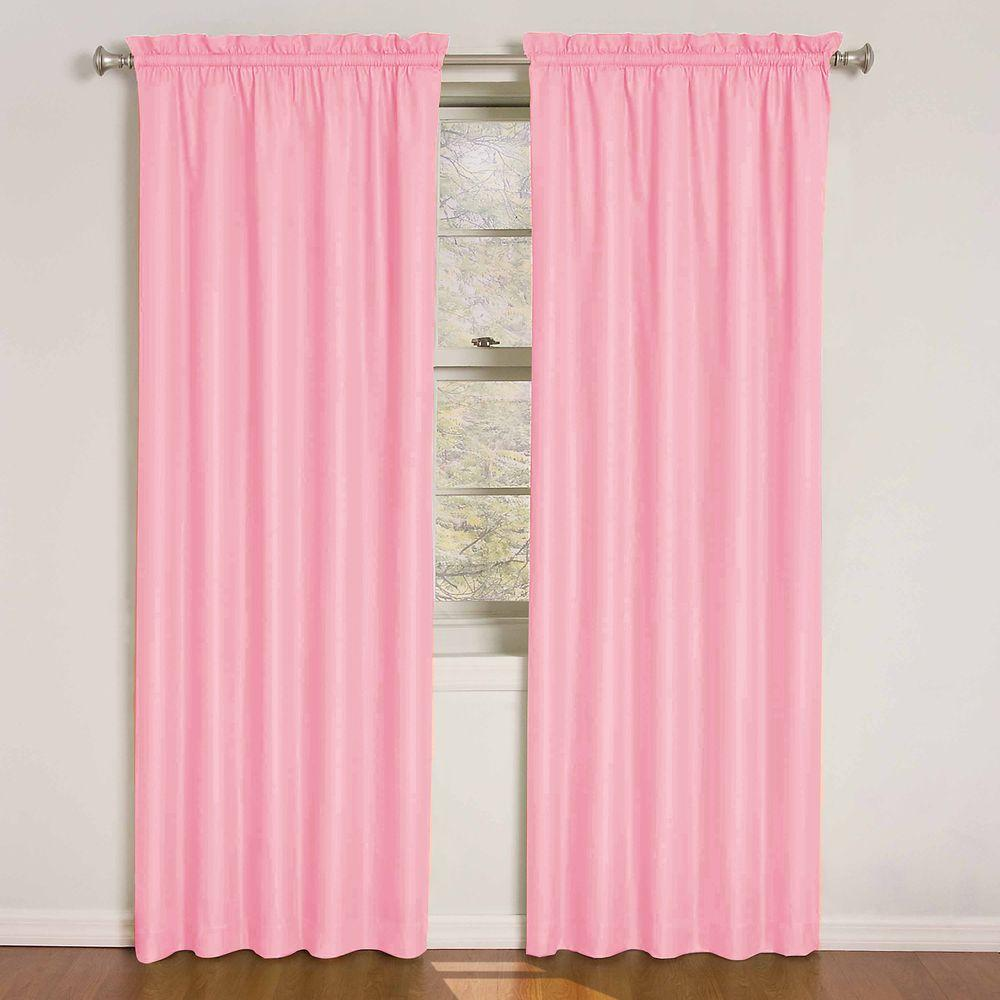 Eclipse Wave Blackout Pink Polyester Curtain Panel 84 In Length Price Varies By