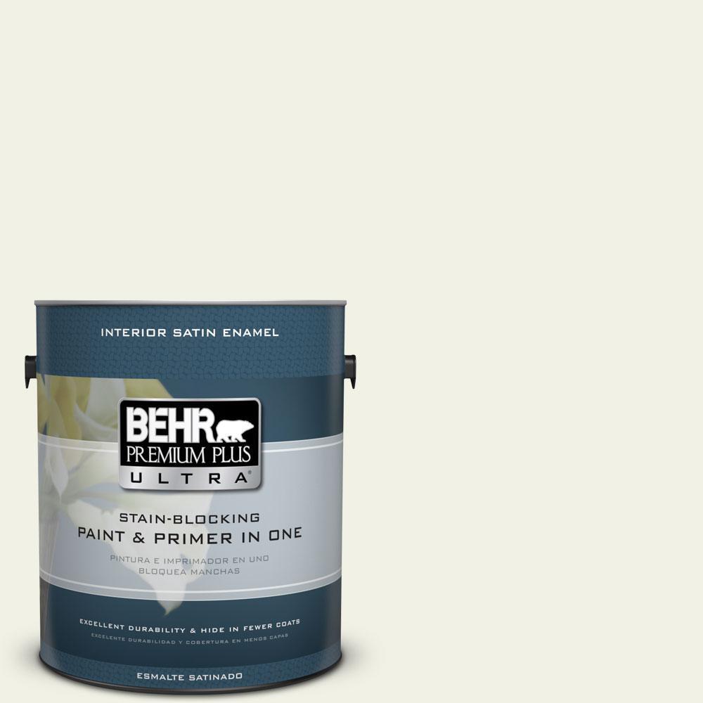 BEHR Premium Plus Ultra 1-gal. #PPL-57 White Smoke Satin Enamel Interior Paint