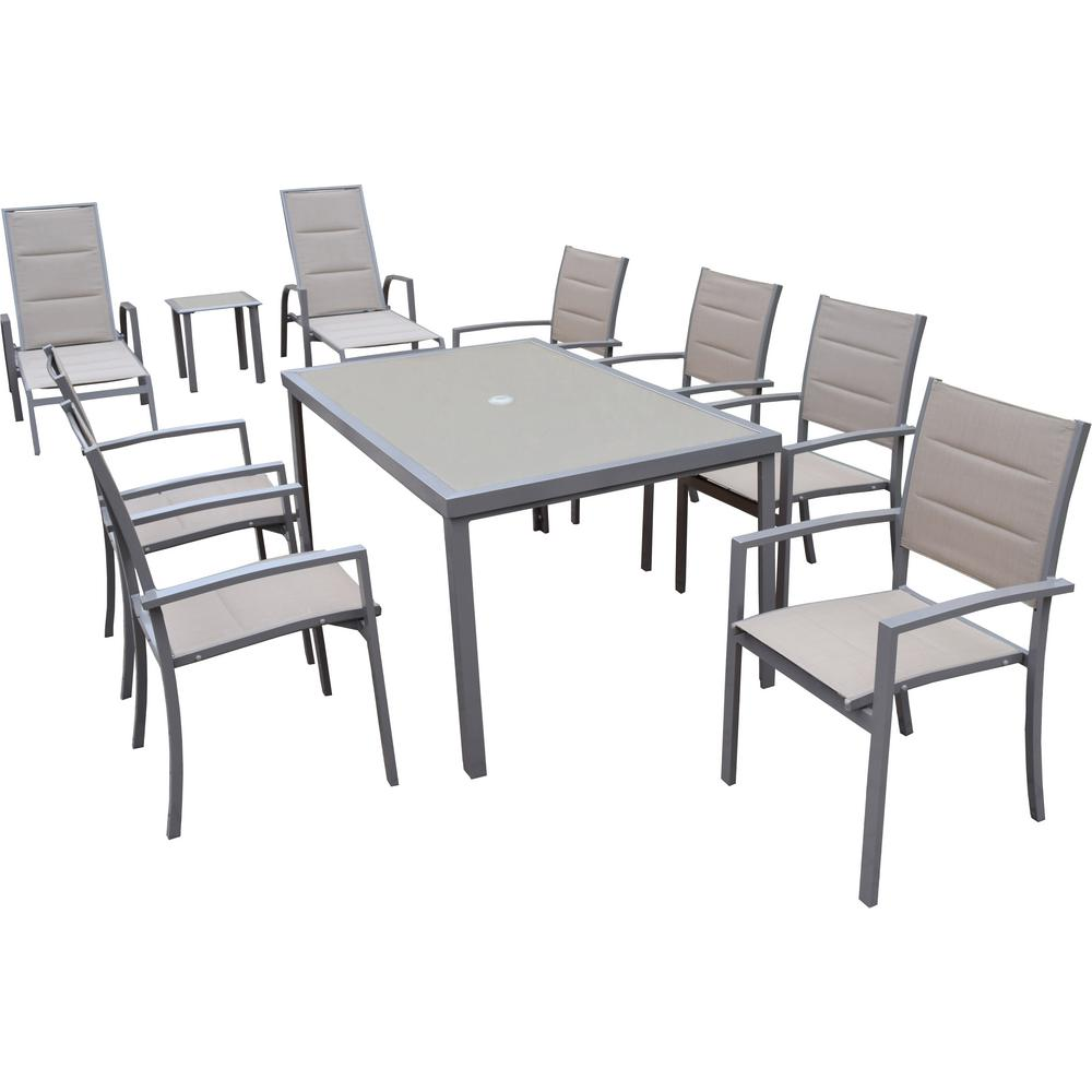 10-Piece Aluminum Outdoor Dining Set-HD3731L2-3732ET-3733T