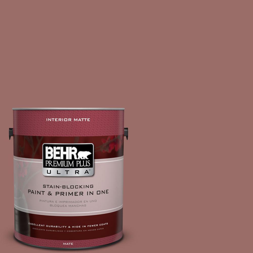 BEHR Premium Plus Ultra 1 gal. #170F-6 Gentle Doe Flat/Matte Interior Paint