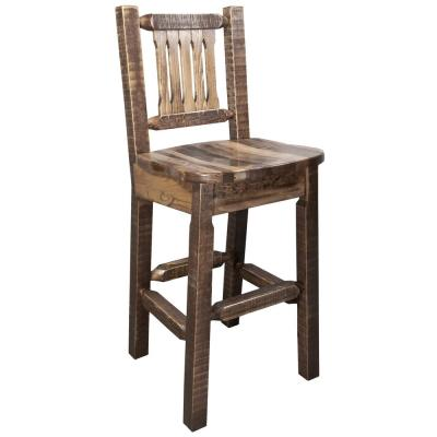 Homestead Collection 30 in. Early American Bar Stool with Back