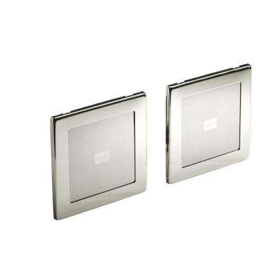 SoundTile Speakers in Vibrant Polished Nickel