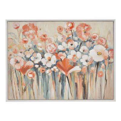29.5 in. Multi-Colored Oil On Canvas Painting with Frame