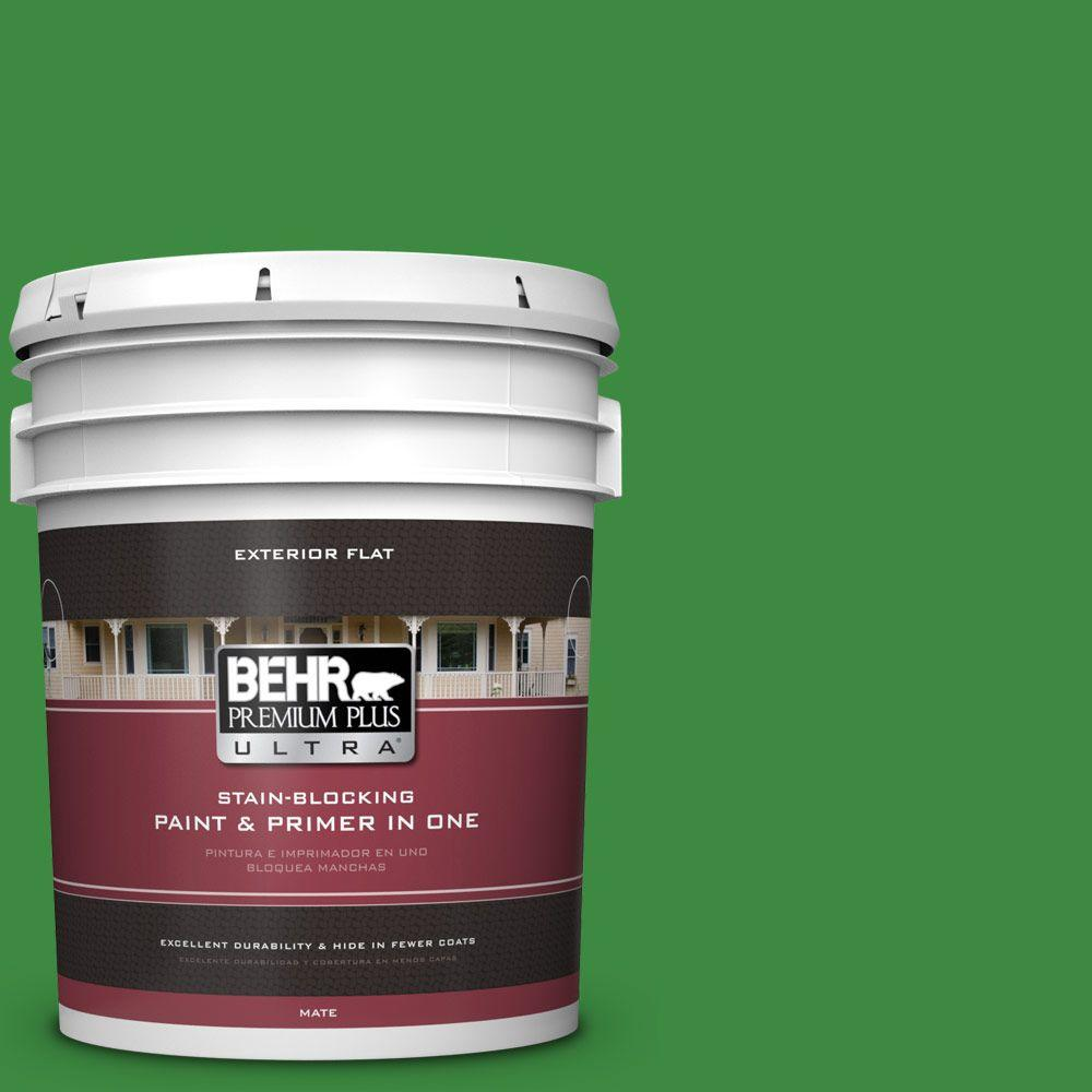 BEHR Premium Plus Ultra 5-gal. #T12-9 Level Up Flat Exterior Paint
