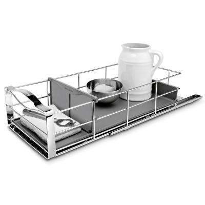 9 in. Pull-Out Cabinet Organizer in Polished Chrome and Grey