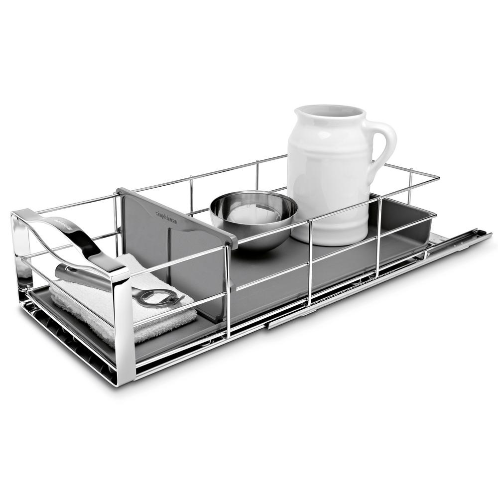 Pull Out Kitchen Cabinet Organizers: Simplehuman 9 In. Pull-Out Cabinet Organizer In Polished