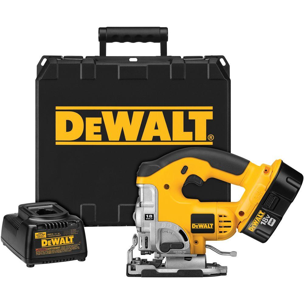 Dewalt 18 volt nicd cordless orbital jig saw kit with battery 24 dewalt 18 volt nicd cordless orbital jig saw kit with battery 24ah charger keyboard keysfo Images