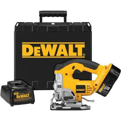 18-Volt NiCd Cordless Orbital Jig Saw Kit with Battery 2.4Ah, Charger and Case