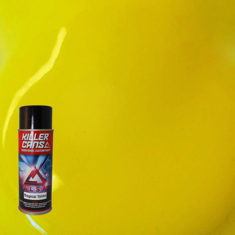 Alsa Refinish 12 oz. Tropical Tones Lemon Yellow Killer Cans Spray Paint