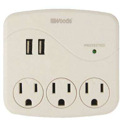 3-Outlet Surge Tap with Phone Cradle