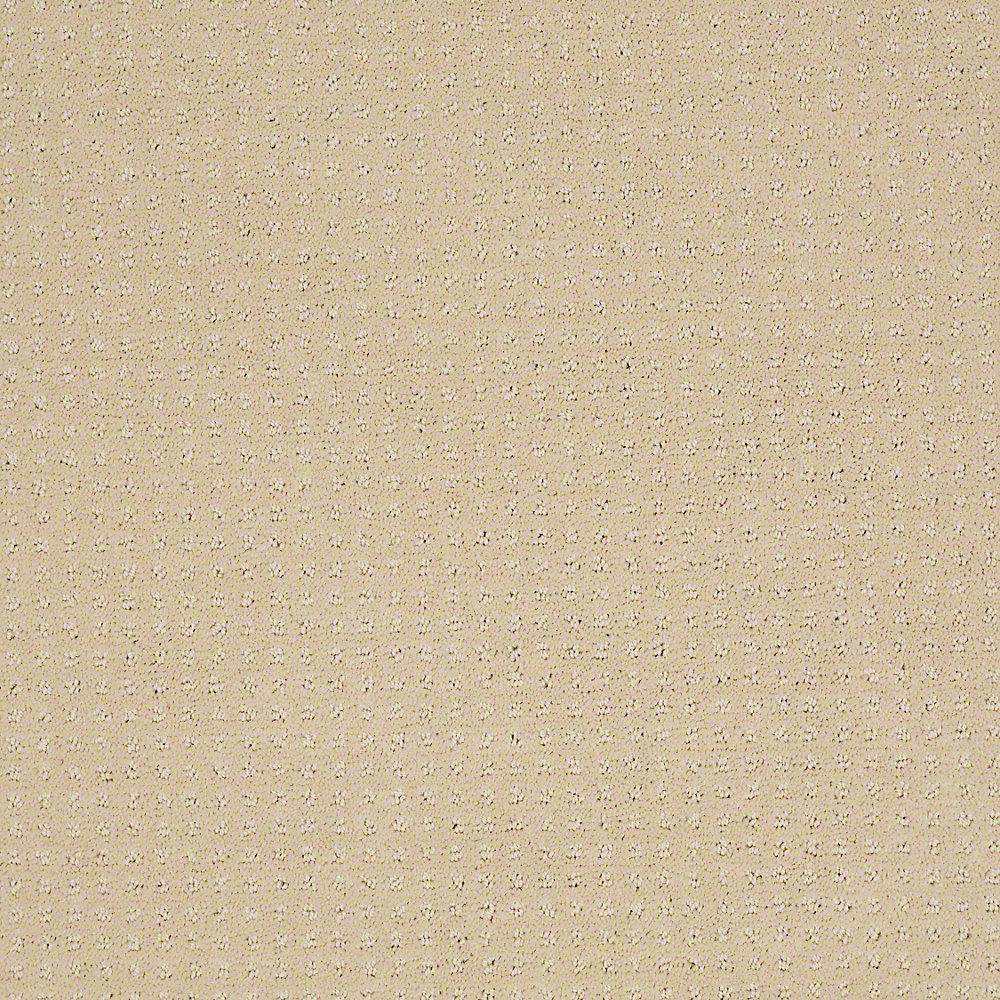 Carpet Sample - Sand Piper - Color Dairy Cream 8 in. x 8 in.