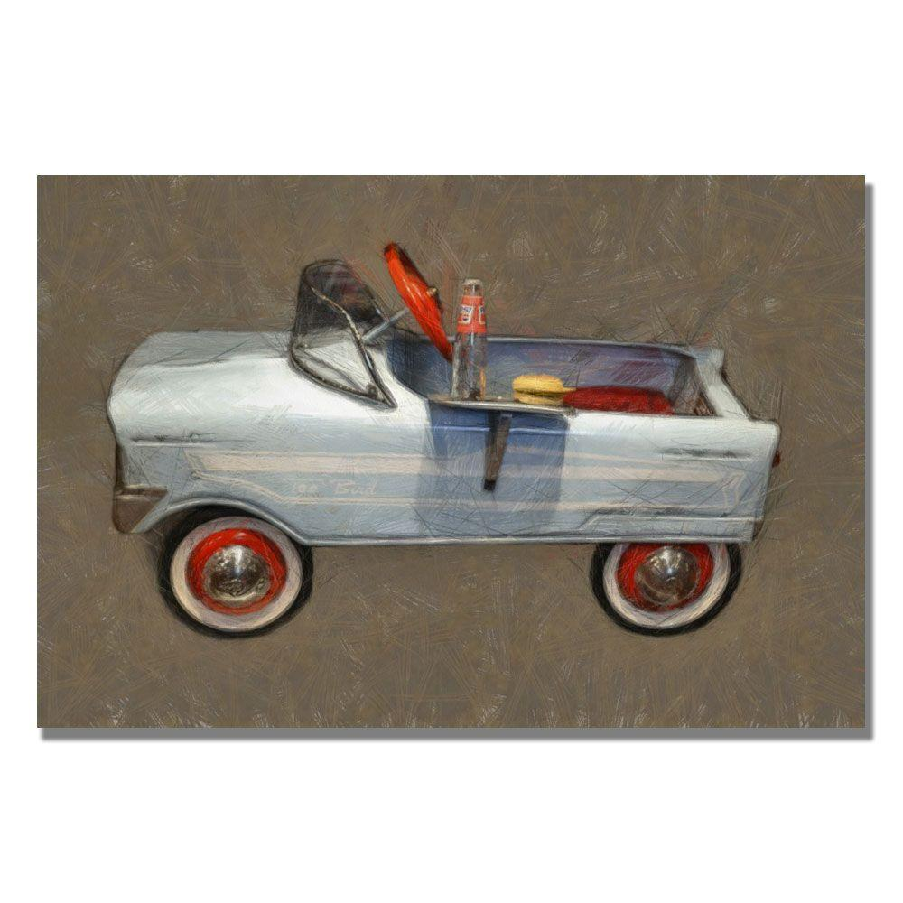 Trademark 16 in. x 24 in. Tee Bird Pedal Car Canvas Art