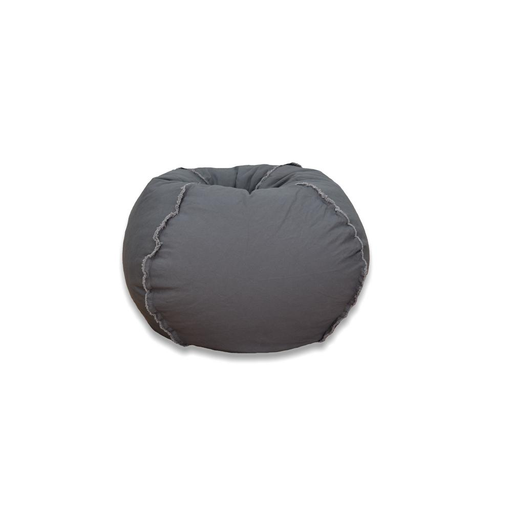 Ace Casual Furniture Charcoal Grey Canvas Bean Bag