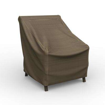 NeverWet Hillside Small Black and Tan Patio Chair Cover