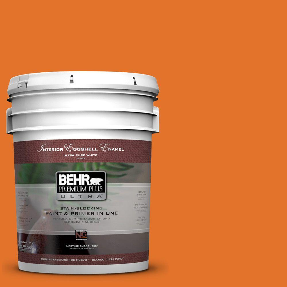5 gal. #250B-7 Crushed Orange Eggshell Enamel Interior Paint and Primer