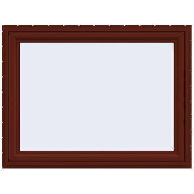 47.5 in. x 35.5 in. V-4500 Series Awning Vinyl Window - Red