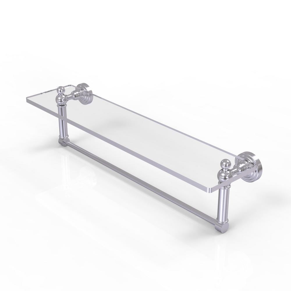 Allied Brass Waverly Place Collection 22 in. Glass Vanity Shelf with ...
