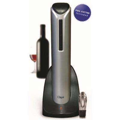 Pro Electric Wine Bottle Opener with Wine Pourer, Stopper, Foil Cutter and Elegant Recharging Stand