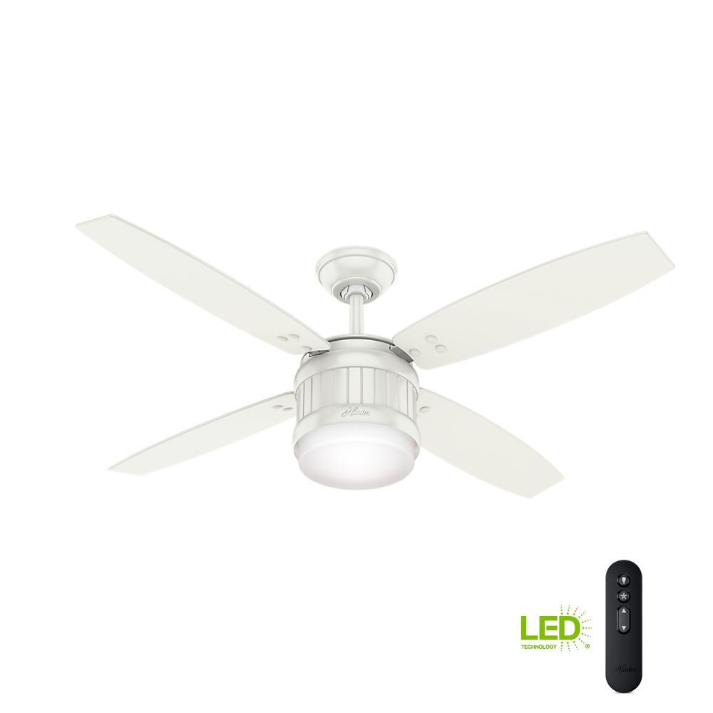 Seahaven 52 in. LED Indoor/Outdoor Fresh White Ceiling Fan