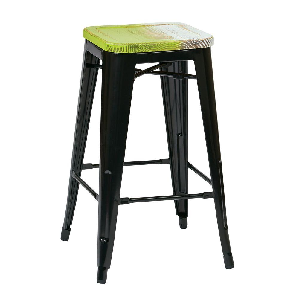 Black Bar Stool Set Of 4
