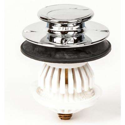3/8 in. and 5/16 in. Fittings Drain Easy Plastic Universal Clog Preventing Bathtub/Bath Tub Stopper/Strainer in Chrome