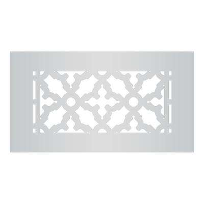 Scroll Series 8 in. x 4 in. Aluminum Grille, Gray without Mounting Holes