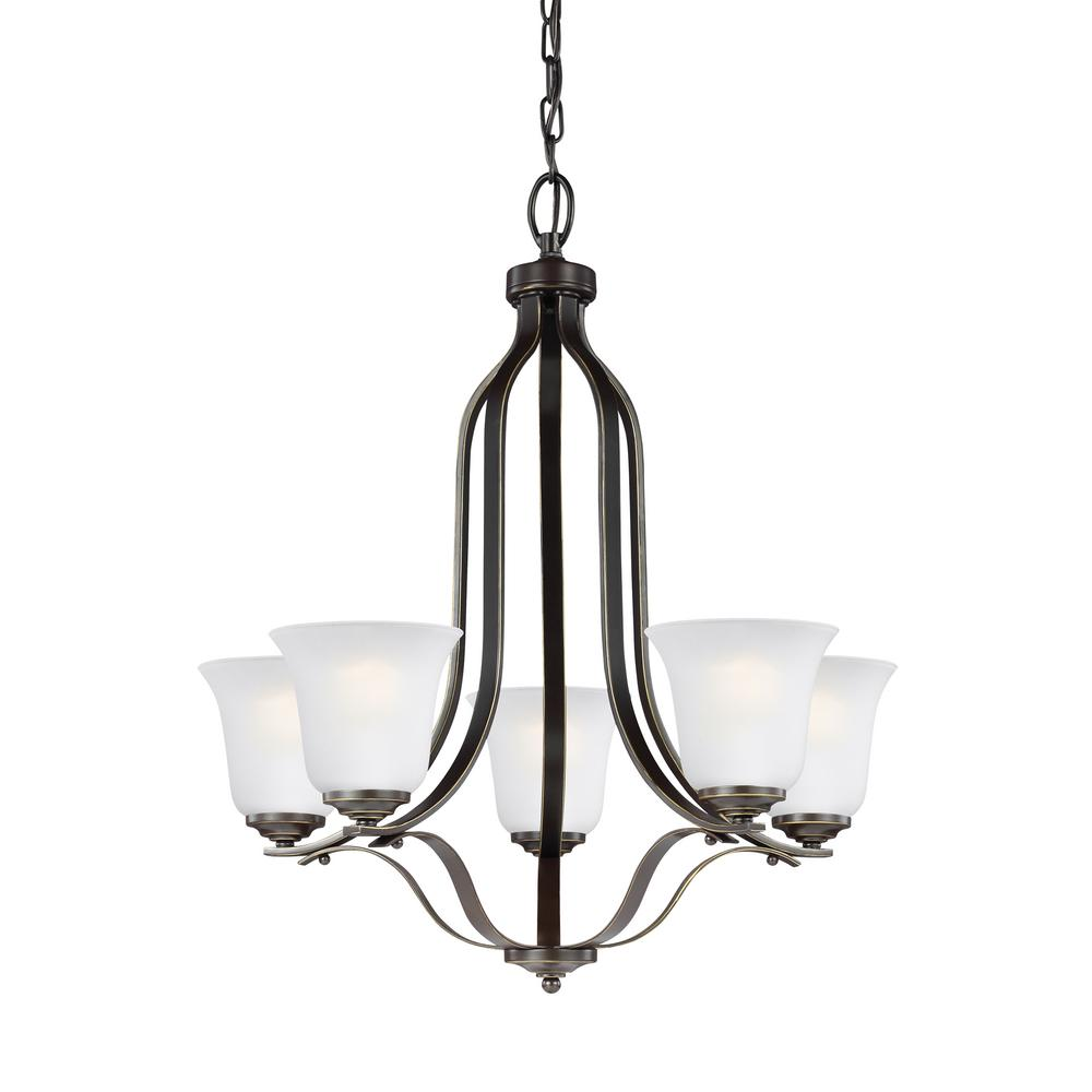 Emmons 5-Light Heirloom Bronze Chandelier