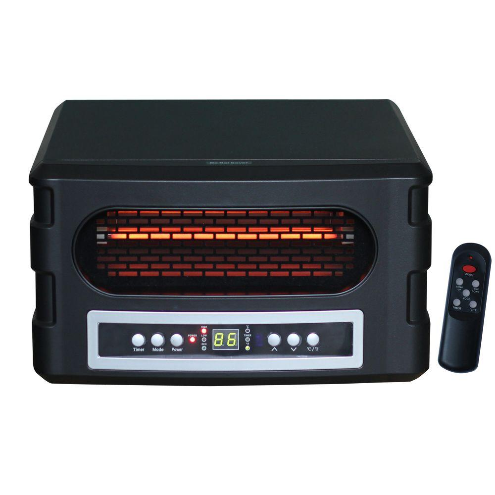 Source Green Heat Slimline 1500-Watt Infrared Convection Heater with Remote-DISCONTINUED