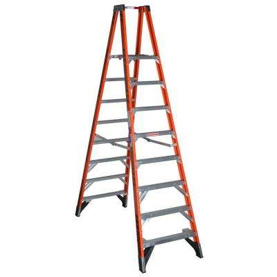 16 ft. Reach Fiberglass Platform Twin Step Ladder with 300 lb. Load Capacity Type IA Duty Rating
