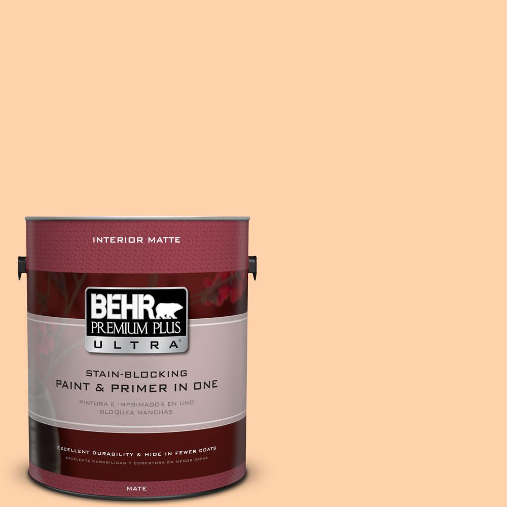 BEHR Premium Plus Ultra 1 gal. #270A-3 Luminary Flat/Matte Interior Paint