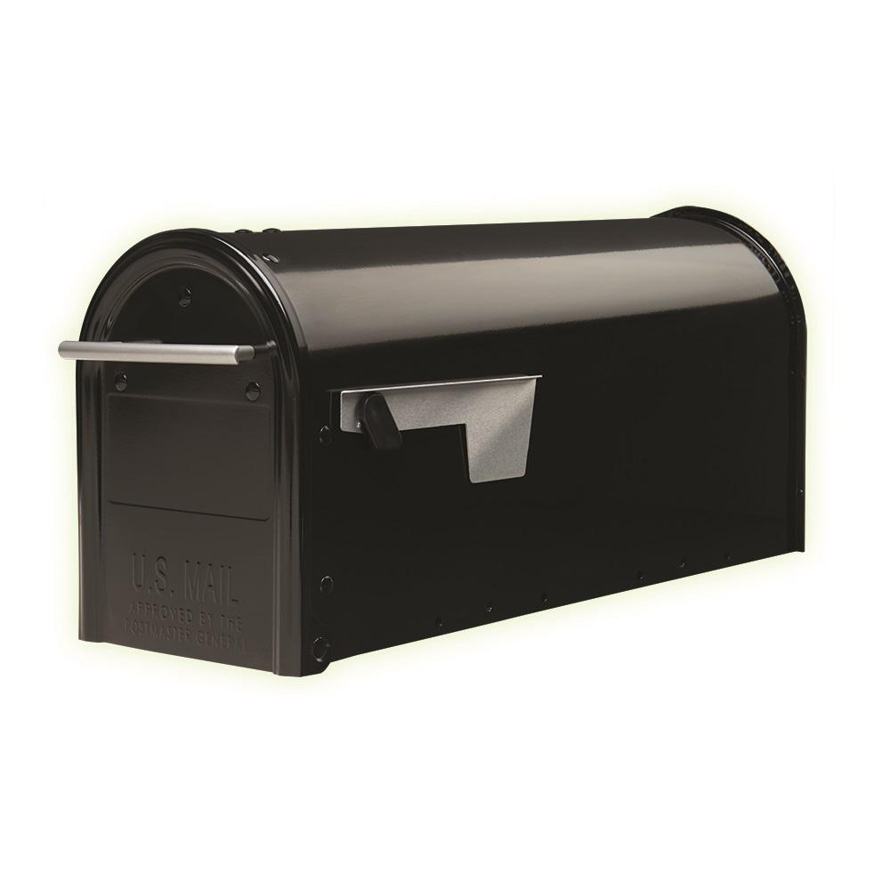 Franklin Post-Mount Mailbox in Black