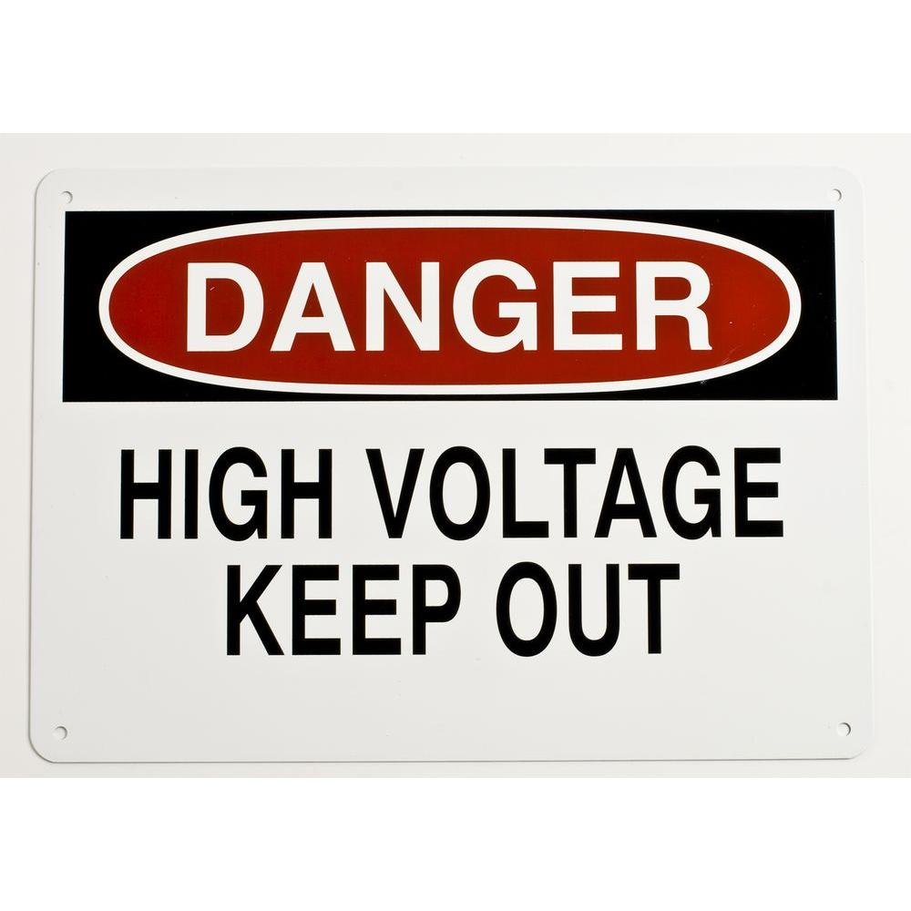 10 in. x 14 in. Aluminum Electrical Hazard Sign
