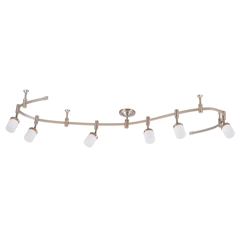 Cresswell 96 In 6 Light Brushed Nickel Integrated Led Flex
